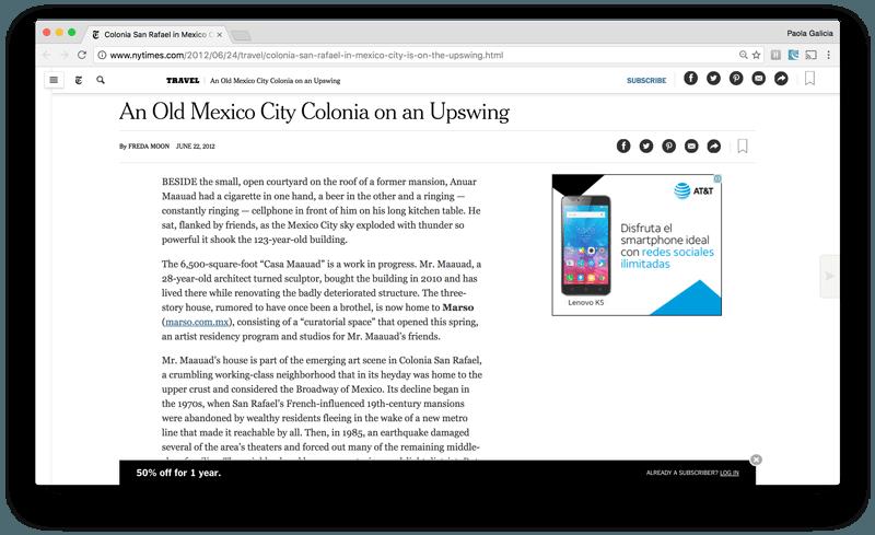 Condé Nast traveler article